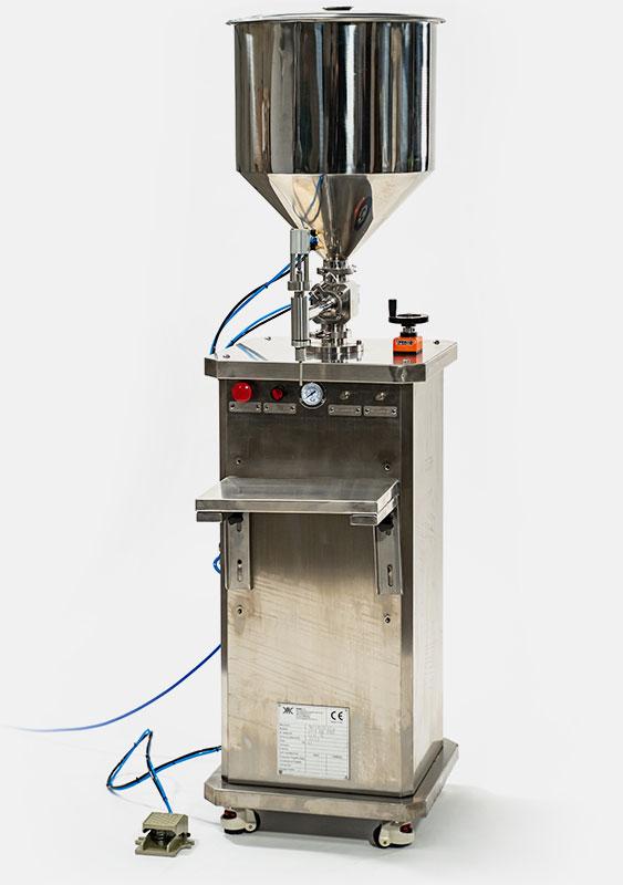 Riempitrice semiautomatica per creme, polveri e liquidi